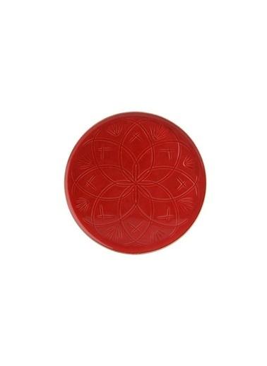 Porland Christina Kırmızı Düz Tabak 27Cm Renkli
